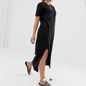 ASOS Petite Black Maxi T-Shirt Dress